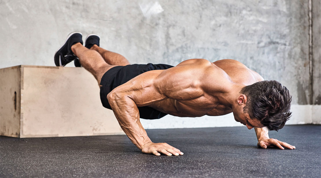 Push-ups for the upper and lower pectoral muscles