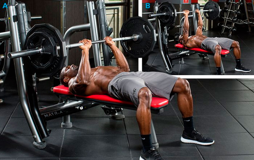 Close-grip barbell press is the exercise for building powerful triceps. How to do lying tricep press