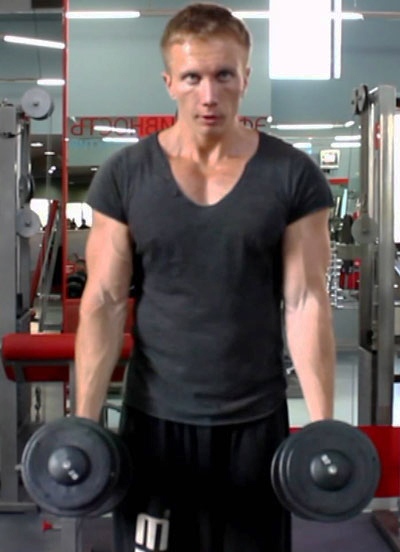 Hammer lifts for biceps can also be done with weights.