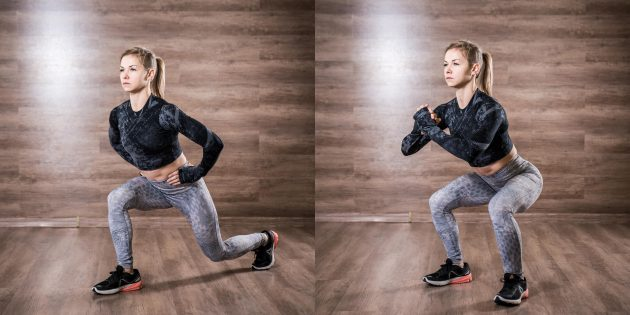 Lunges: try a squat test