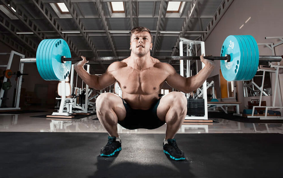 squats with a barbell on the shoulders - technique